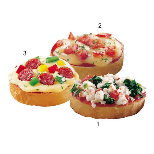 Assortiment de mini-bruschettas, 3 sortes
