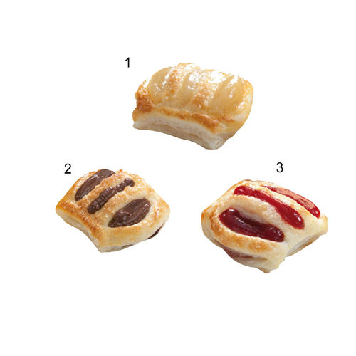 Assort. mini-strudels, garniture sucrée, 3 sortes