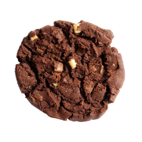 Cookies trois chocolats cuits