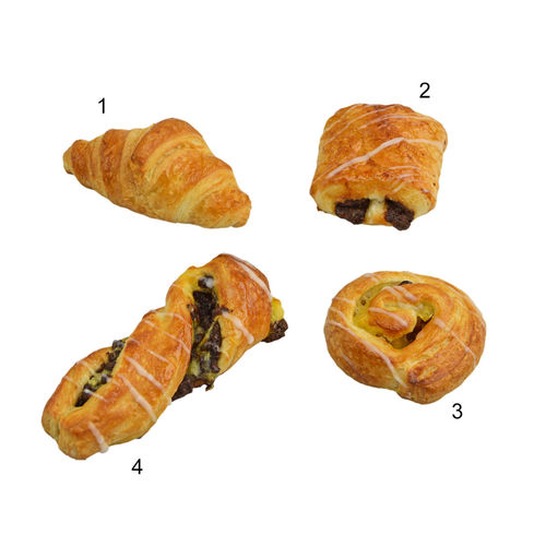 Assortiment mini-viennoiseries, 4 sortes