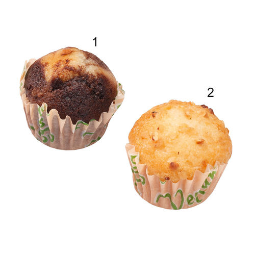 Assortiment de mini-muffins végans, 2 sortes
