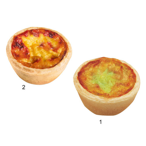 "Assortiment mini-quiches ""HUG"", 2 sortes"