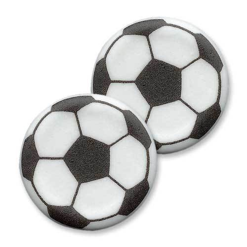 "Décor choco rond plat ""Ballon de foot"""