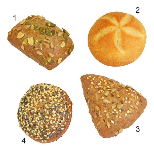Assortiment minis petits pains breakfast