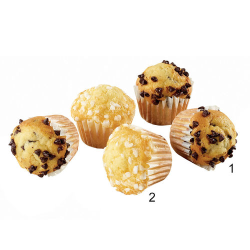 Assortiment mini-muffins chocolat et citron