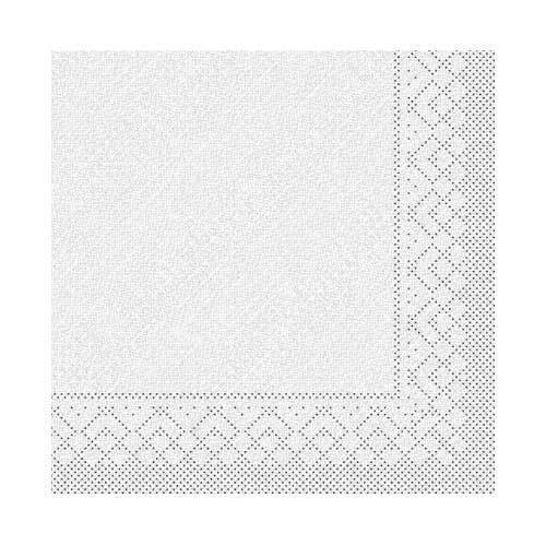 Serviettes de table, blanc, 4 couches