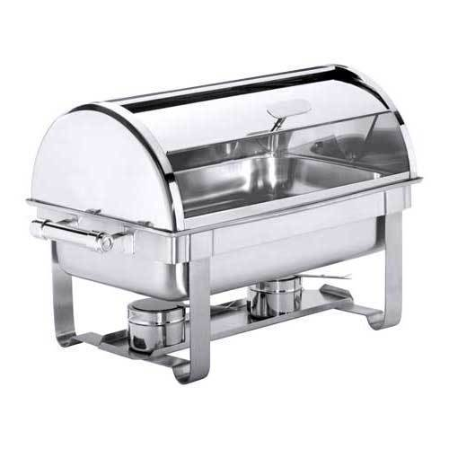 Chafing Dish avec couv. roll top GN 1/1, argent