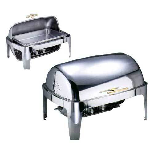 Chafing Dish couv. roll top GN 1/1, doré