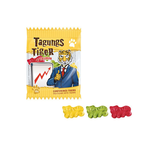 "Chewing gum aux fruits ""Tagungs-Tiger"""