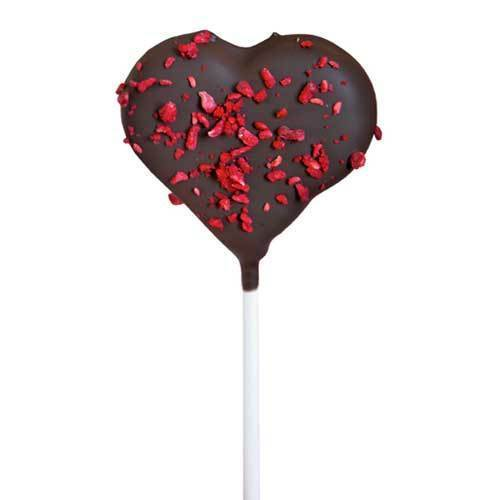 "Cake Pop Coeur ""Framboise-Brownie"""